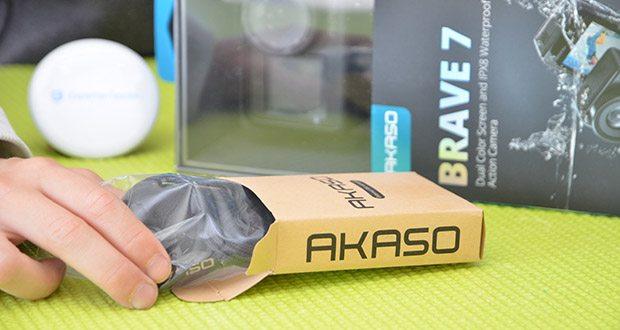 AKASO externes Mikrofon für Action Cam im Test - Abmessungen: 8.1 x 5.8 x 1.8 cm; Gewicht 50g
