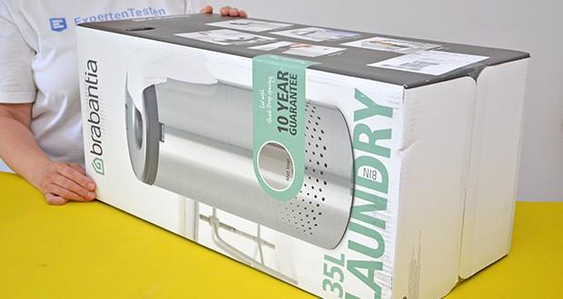 Brabantia Wäschebox 35L im Test - Produktabmessungen: 29.7 x 29.7 x 63.5; Gewicht: 2.35 kg