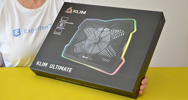 KLIM Ultimate Laptop-RGB-Kühler im Test - Produktabmessungen: 42.5 x 31.5 x 4.3 cm; Gewicht: 980 Gramm
