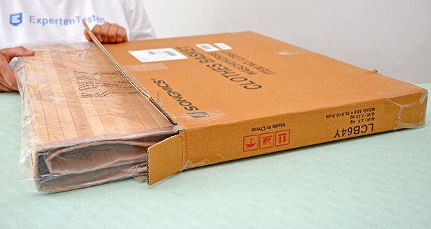 SONGMICS Wäschekorb aus Bambus 100L im Test - Maße: 52 x 63 x 32 cm (B x H x T)