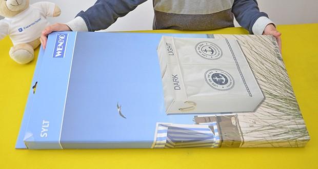 WENKO Wäschekorb Duo Sylt im Test - Maße B/H/T: 60 cm x 60 cm x 30 cm; Nettogewicht: 1565 g; Farbe: Beige