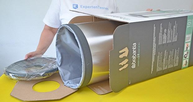 Brabantia Wäschebox 35L im Test - gut verpackt im einen Originalkarton