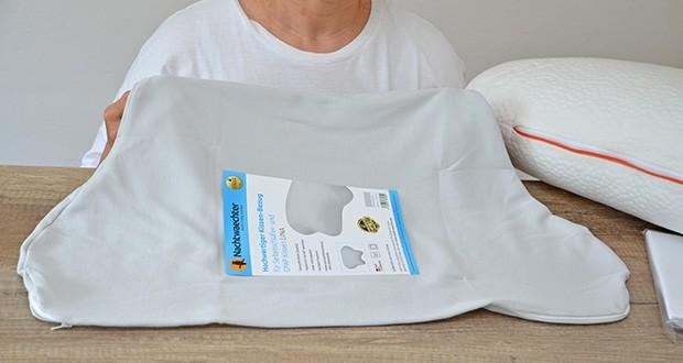 Nachtwaechter Kissen-Bezug für Kissen LINA im Test - gefertigt aus hoch-atmungsaktivem, anti-allergischem Baumwoll-Bettbezug-Stoff