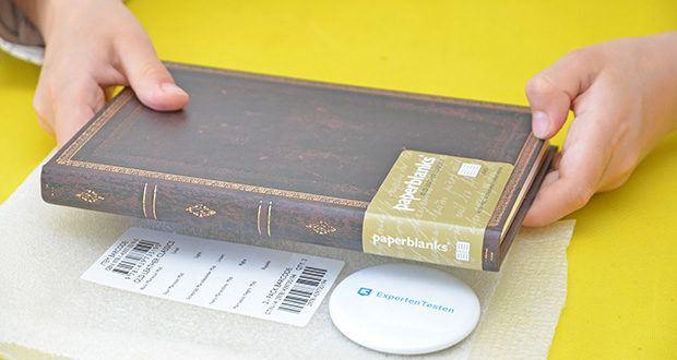 Paperblanks Faux Leder Notizbuch im Test - erfasst die Essenz der meisterhaften Ledereinbände der Renaissance mit ihren Verzierungen durch feine Goldprägung