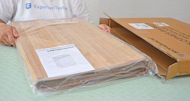 SONGMICS Wäschekorb aus Bambus 100L im Test - Material: Bambus, Wäschesack aus Baumwolle