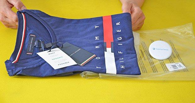 Tommy Hilfiger Herren Global Stripe Chest Tee T-Shirt im Test - ein authentisches und original Tommy Hilfiger Produkt