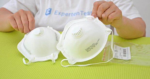 Transatlantic Atemschutzmasken FFP3 NR, mit Ventil und Kopfband im Test - Material: 4-lagiges Polypropylen-Vlies