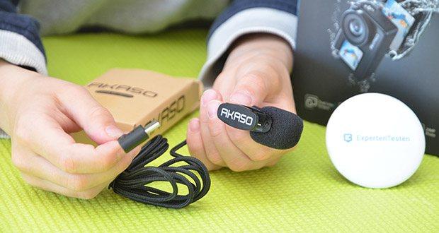 AKASO externes Mikrofon für Action Cam im Test - Anschluss über USB-C