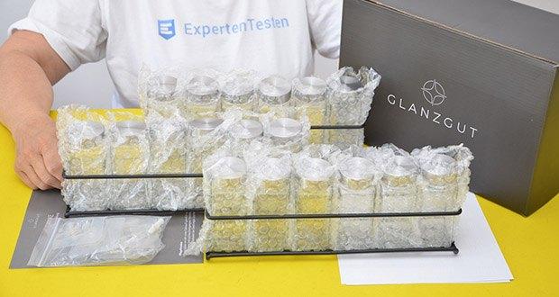 GLANZGUT Gewürzregal im Test - Material: Edelstahl / Glas / Pulverbeschichtetes Metall