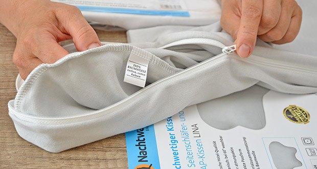 Nachtwaechter Kissen-Bezug für Kissen LINA im Test - Materialzusammensetzung: 100% Baumwolle