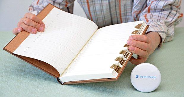 Paperblanks Blühende Poesie Adressbuch im Test - säurefreies Papier aus nachhaltiger Forstwirtschaft & 100% recycelte Binderpappen
