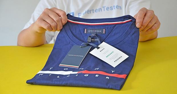 Tommy Hilfiger Herren Global Stripe Chest Tee T-Shirt im Test - Crew Neck