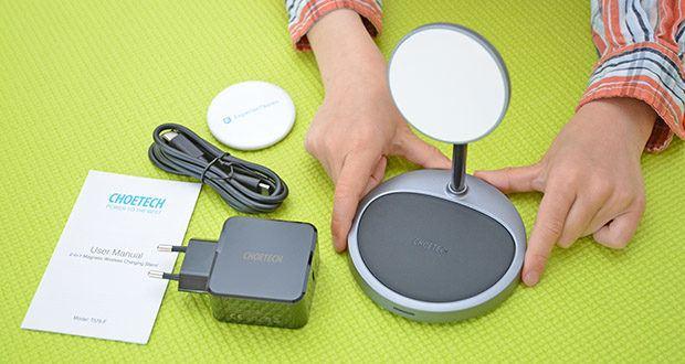 Choetech MagSafe kabellos Ladegerät 30W im Test - sehr kompakt für seine 900mAh