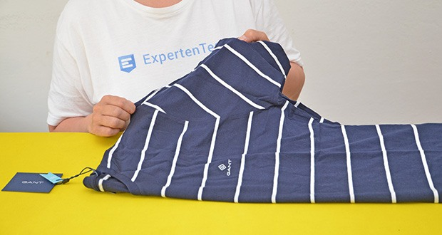 GANT Herren Breton Stripe Ss T-Shirt im Test - Farbe: Blau (Evening Blue 433)