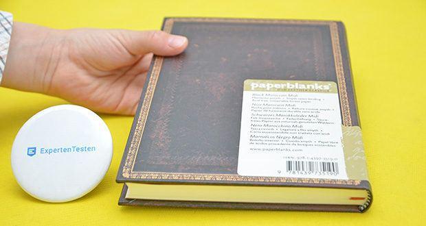 Paperblanks Faux Leder Notizbuch im Test - Fadenheftung, mit Elastikband Verschluss