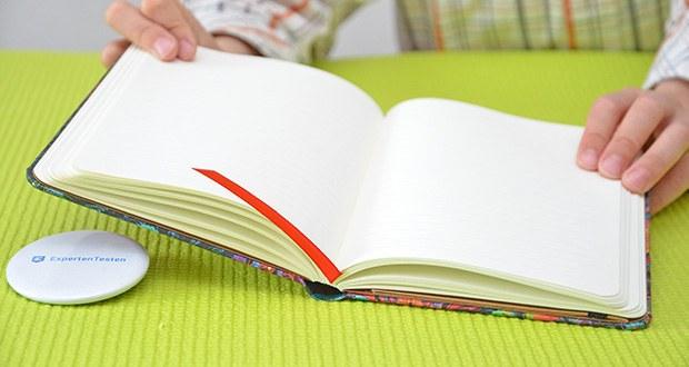 Paperblanks Olenas Garten Mondlicht Notizbuch im Test - Säurefreies Papier aus nachhaltiger Forstwirtschaft & 100% recycelte Binderpappen