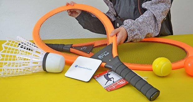 Simba Giant Badminton Set im Test - für Kinder sehr einfach zu nutzen
