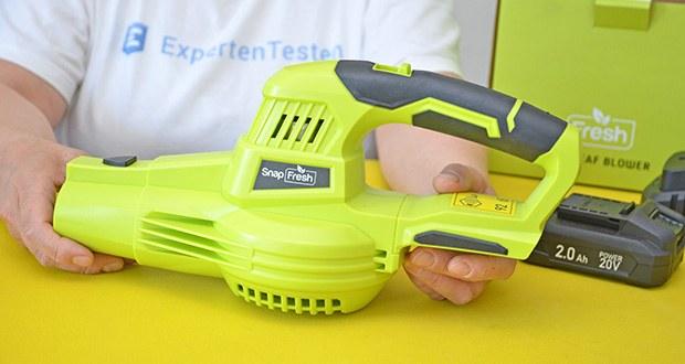SnapFresh Akku Laubbläser im Test - ergonomisches und leichtes Design