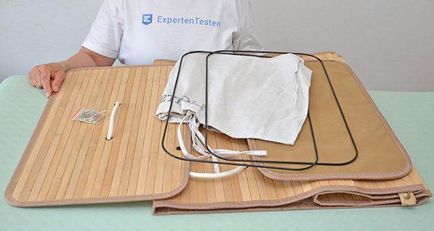 SONGMICS Wäschekorb aus Bambus 100L im Test - bei Nichtgebrauch lässt sich der Wäschekorb auch mühelos kompakt zusammenklappen