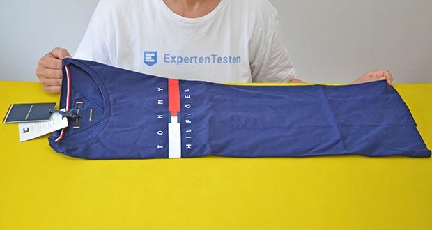 Tommy Hilfiger Herren Global Stripe Chest Tee T-Shirt im Test - Global Stripe Brust Tee