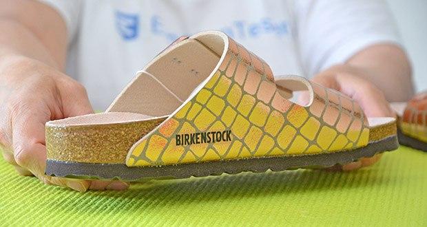 Birkenstock Arizona Gator Gleam Copper Sandalen im Test - Schuhweite: Schmal
