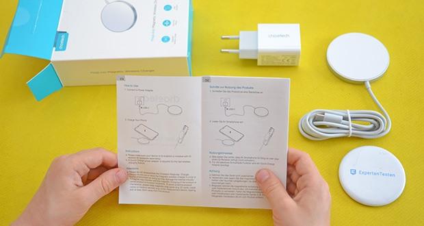 Choetech MagSafe kabellos Ladegerät 20W im Test - starke magnetische Adsorption ermöglicht es Ihnen, den Winkel frei einzustellen, ohne von der Mitte des Ladegeräts abzuweichen