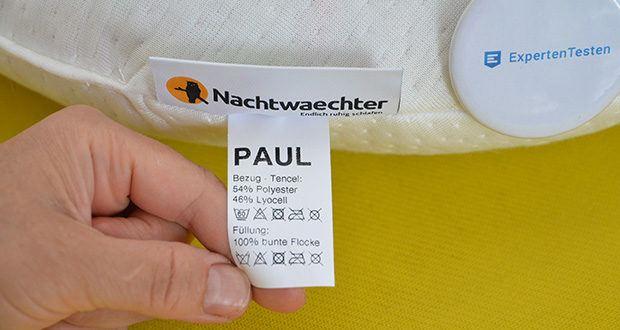 Nachtwaechter Kuschelweiches Reise- und Knie-Kissen PAUL im Test - waschbar bis 60°