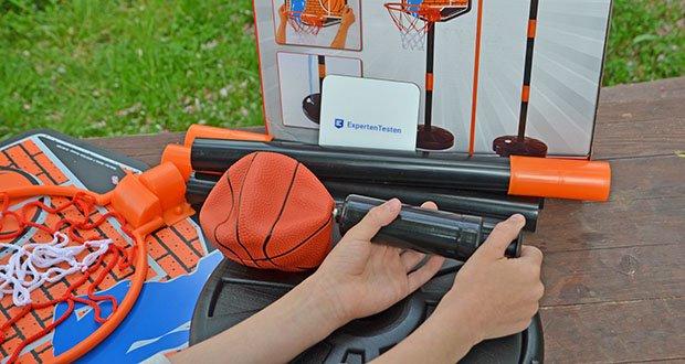 Simba Basketball Set im Test - im Lieferumfang ist ein Ball & Pumpe enthalten