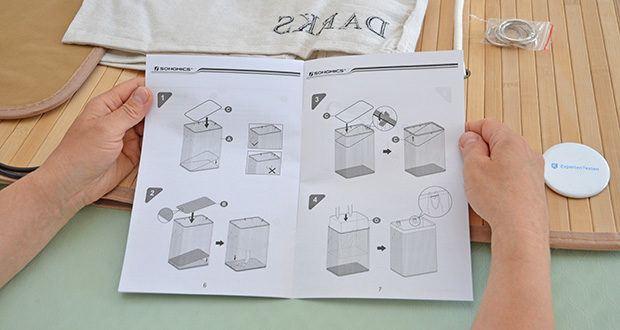 SONGMICS Wäschekorb aus Bambus 100L im Test - einfache Montage und leicht klappbar
