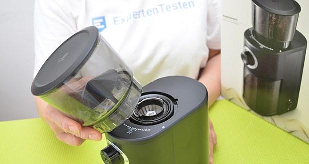 Tchibo Elektrische Kaffeemühle Einsteigermodell im Test - Bohnenbehälter fasst ca. 150 g Bohne