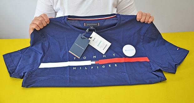 Tommy Hilfiger Herren Global Stripe Chest Tee T-Shirt im Test - 100% Bio Baumwolle