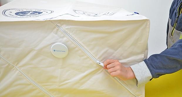 WENKO Wäschekorb Duo Sylt im Test - Material: Innen- & Außenmaterial: 100 % Polyester