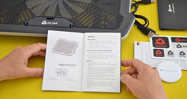 KLIM Ultimate Laptop-RGB-Kühler im Test - es ist auch eine großartige Hilfe für 19 Zoll -Laptops und bleibt dabei weiterhin stabil