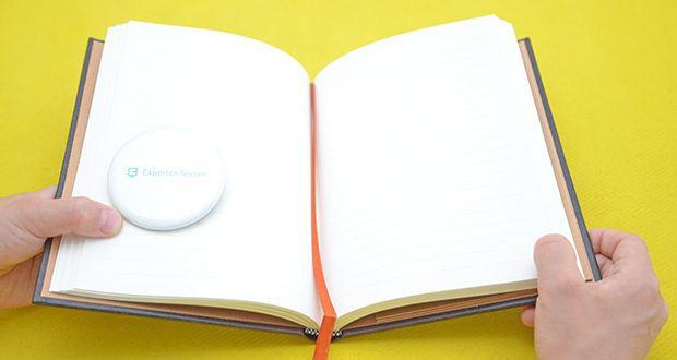 Paperblanks Faux Leder Notizbuch im Test - verfügt über ein seidenes Lesebändchen, die speziell auf das Einbandmotiv abgestimmt ist