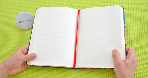 Paperblanks Olenas Garten Mondlicht Notizbuch im Test - Lesebändchen aus Stoff (rot)