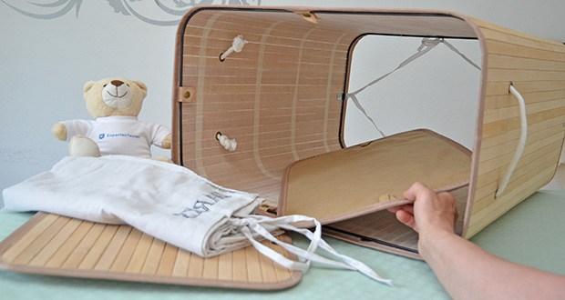 SONGMICS Wäschekorb aus Bambus 100L im Test - sorgfältige Bearbeitung