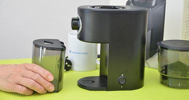 Tchibo Elektrische Kaffeemühle Einsteigermodell im Test - Auffangbehälter fasst ca. 84 g Kaffeemehl