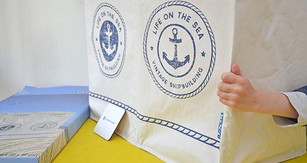 WENKO Wäschekorb Duo Sylt im Test - das Material vereint hohe Reißfestigkeit und die Möglichkeit einer schnellen Reinigung durch einfaches Aus- und Abwischen des Sammlers