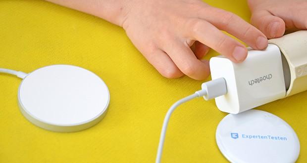 Choetech MagSafe kabellos Ladegerät 20W im Test - mit fortschrittlicher Technologie kann automatisch Spannung und Strom entsprechend Ihren Geräteanforderungen erkennen und bereitstellen