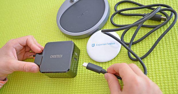 Choetech MagSafe kabellos Ladegerät 30W im Test - verwenden Sie den USB-C PD 3.0-Adapter (im Lieferumfang enthalten) zum schnellen kabellosen Laden