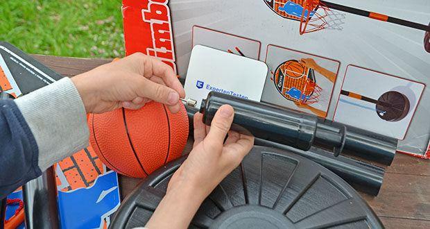 Simba Basketball Set im Test - im Set ist das Board, der Korb mit Netz, der Ständer und ein Ball enthalten