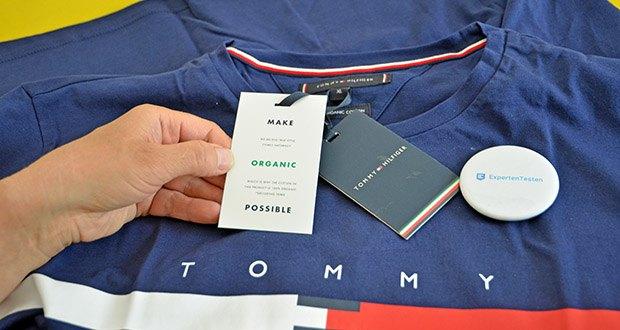 Tommy Hilfiger Herren Global Stripe Chest Tee T-Shirt im Test - Regular Fit