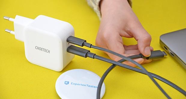 Choetech USB C Ladegerät im Test - mit diesem USB C-Wandladegerät können Sie Ihre stromhungrigen AirPods, iPad, iPhone etc. schnell aufladen