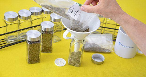 GLANZGUT Gewürzregal im Test - vermeide unnötigen Verpackungsmüll mit deinen wiederbefüllbaren Gewürzgläsern