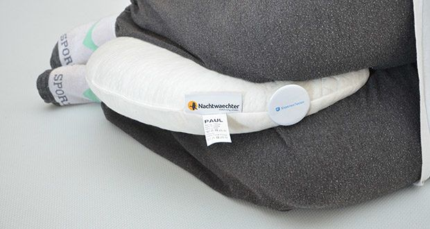 Nachtwaechter Kuschelweiches Reise- und Knie-Kissen PAUL im Test - ist für alle Schlafarten das ideale Reise- und Knie-Kissen