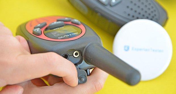 Retevis RT628 Kinder Walkie Talkie im Test - Sie können auch eine Kopfhörer an das Gerät anschließen