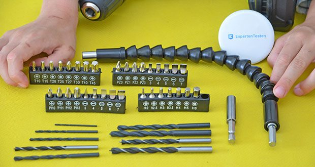 SnapFresh 20V Akkuschrauber Set im Test - ist bereit für jedes Zubehör, das Sie für die Arbeit benötigen
