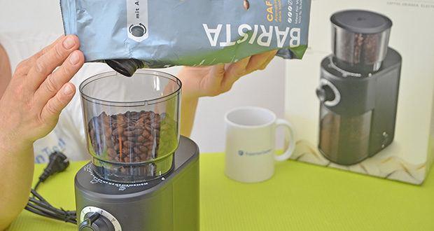Tchibo Elektrische Kaffeemühle Einsteigermodell im Test - Mengendosierung für bis zu 12 Tassen
