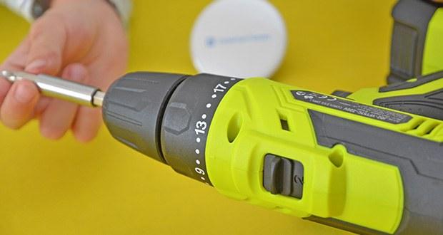 SnapFresh 20V Akkuschrauber Set im Test - verfügt über 2 Geschwindigkeiten, 0-400 U / min zum Schrauben und Lösen, 0-1400 U / min zum Bohren von Löchern in Holz und Metall