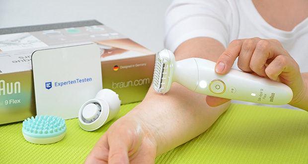 Braun Silk-épil 9 Flex 9020 Epilierer im Test - besonders geeignet für: Körperepilation, präzise Rasur, Tiefenmassage, Haare trimmen